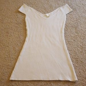 H&M Ribbed Off the Shoulder Tee